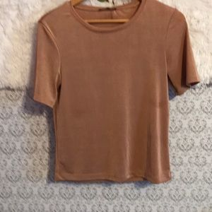 Zara ladies top pale or dusty pink sized large